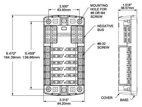 Mt01300027 moreover Marine Fuse Block Wiring Diagram in addition Breaker Box Panel Cover also Fuse Box Marine additionally ST Blade Fuse Block   6 Circuits with Cover. on blue sea fuse box wiring